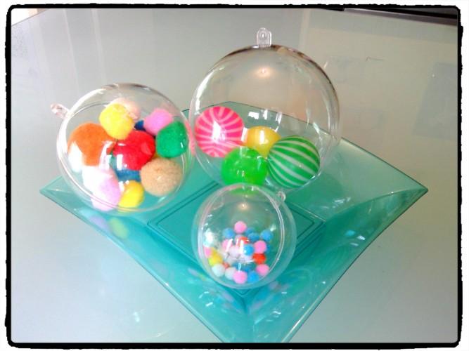 Des boules sensorielles : des ronds dans des ronds