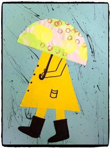 A l'abri sous mon parapluie