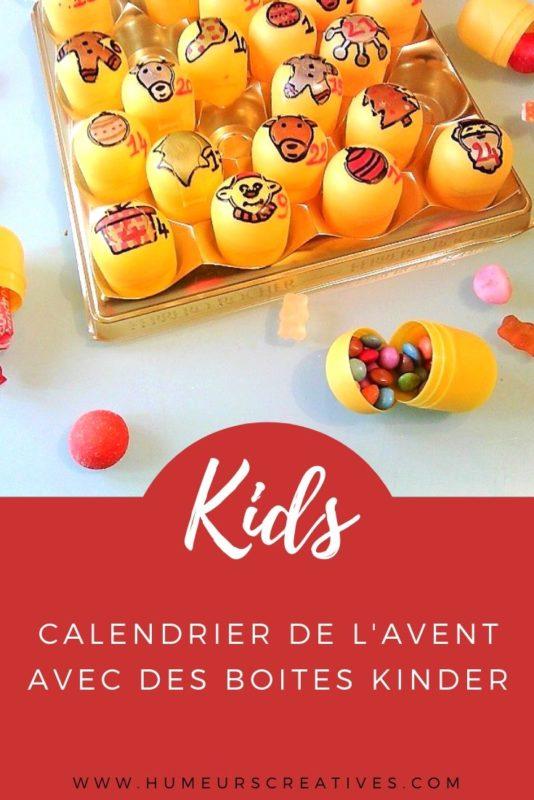 Bricolage pour réaliser un calendrier de l'Avent avec des oeufs Kinder