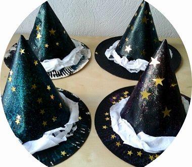 Bricolage halloween pour enfants : fabriquer des chapeaux de sorcière