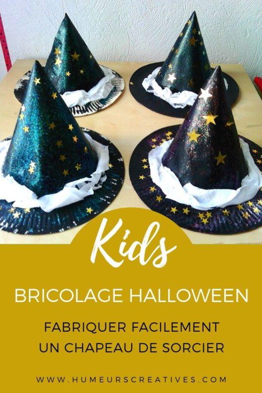 Bricolage d'halloween : fabriquer facilement un chapeau de sorcier avec les enfants