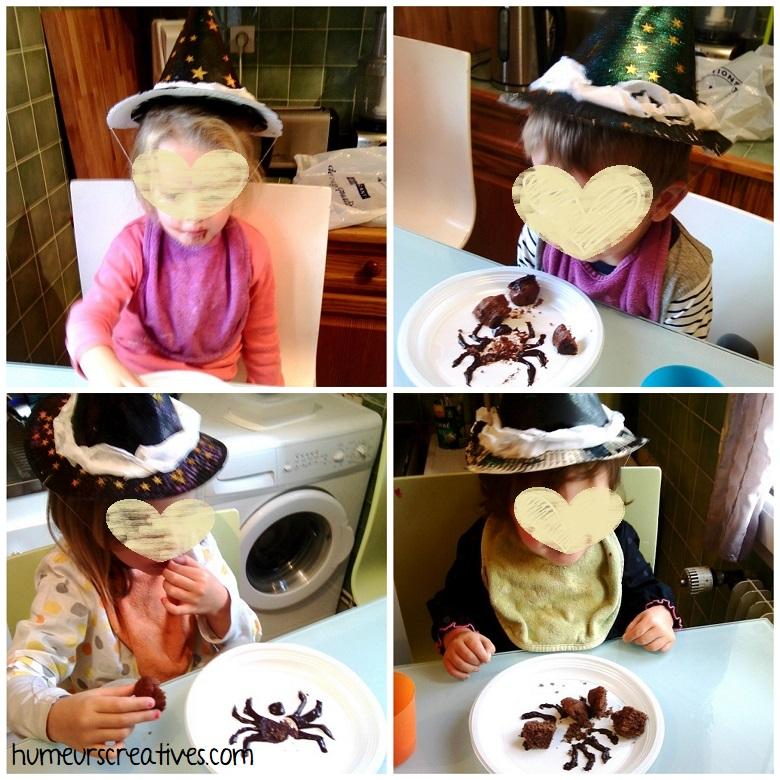 gouter d'halloween avec les chapeaux
