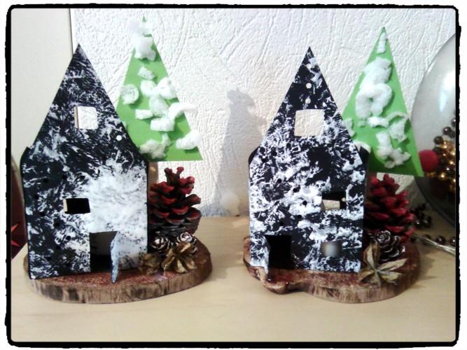 Cadeau de Noël : une maison sous la neige