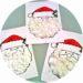 Bricolage de Noël pour enfant : collage de papier pour réaliser la barbe du Père Noël