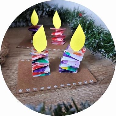 Bricolage de Noël : des bougies en papier