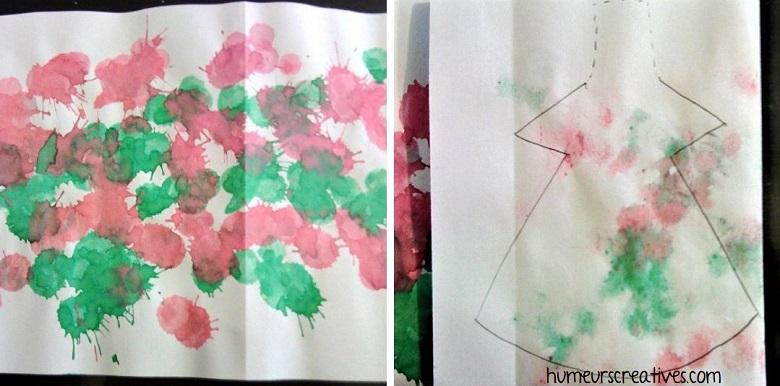 décorer une feuille de papier pour faire les lutins