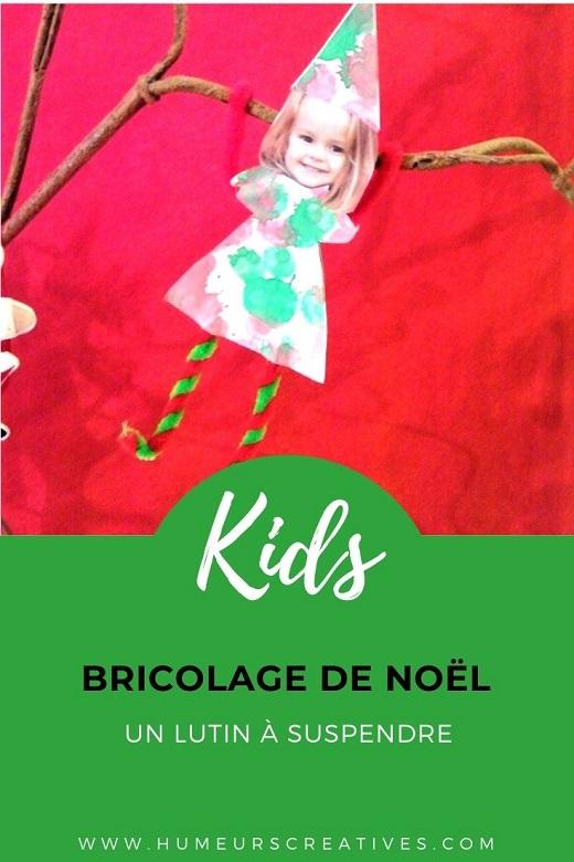 Bricolage de Noël : lutin à suspendre à fabriquer avec les enfants