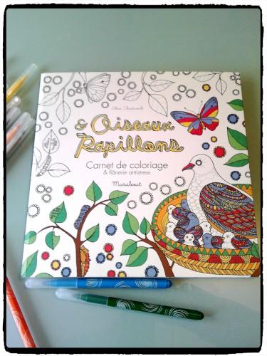 Carnets de coloriage : Oiseaux et Papillons