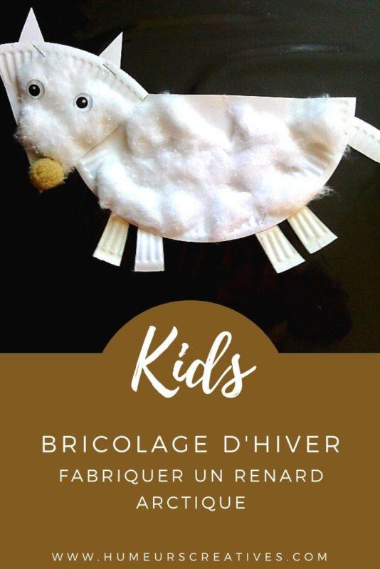bricolage pour enfant : fabriquer un renard actique