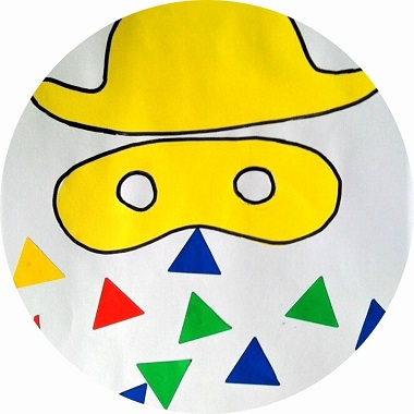 Arlequin en gommettes, activités pour enfants
