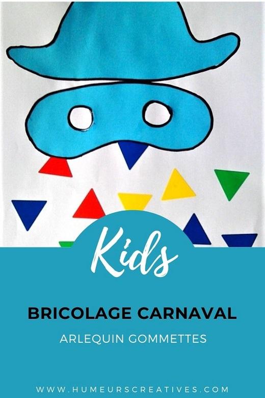 Bricolage carnaval : arlequin gommettes