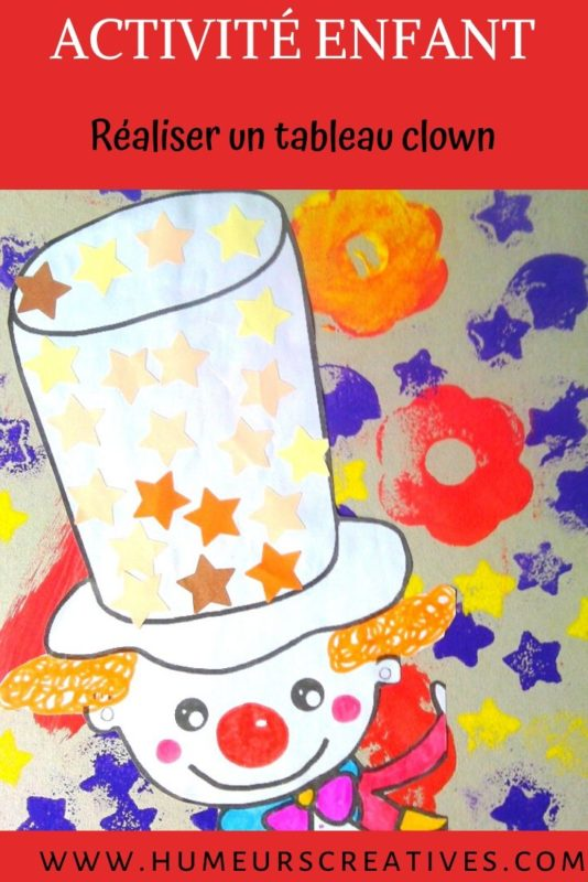 Bricolage Mardi Gras pour enfants : un tableau clown
