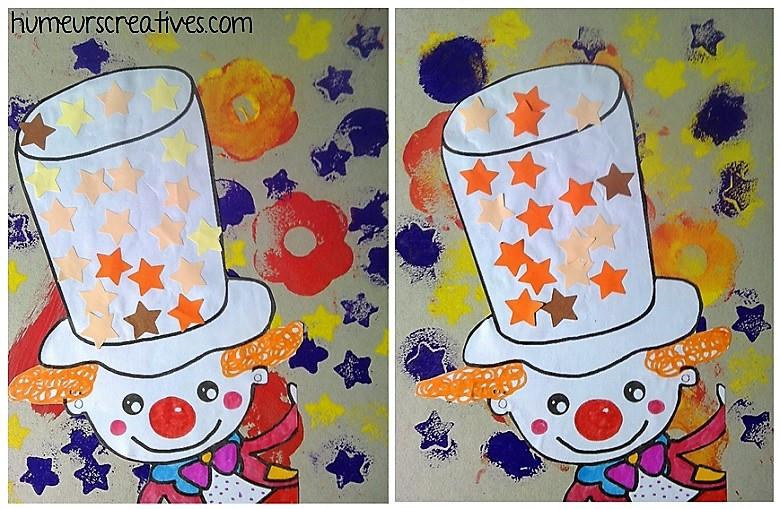 nos tableaux clowns