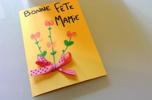 fabriquer avec jolie carte pour la fete des mamies avec bébé