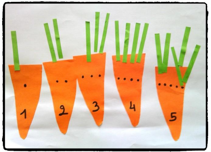 1, 2, 3, 4, 5 carottes