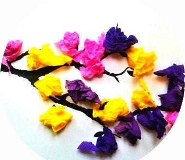 Branche d'arbre en fleurs, printemps