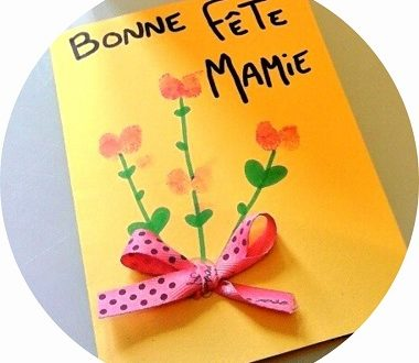 Fabriquer une carte fleur pour la fete des mamies avec les enfants