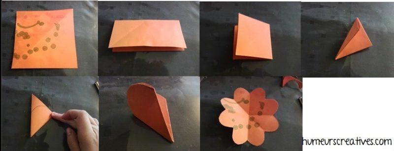 tuto pour réaliser la fleur en papier