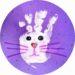 Bricolage de Pâques : lapin en empreinte de main