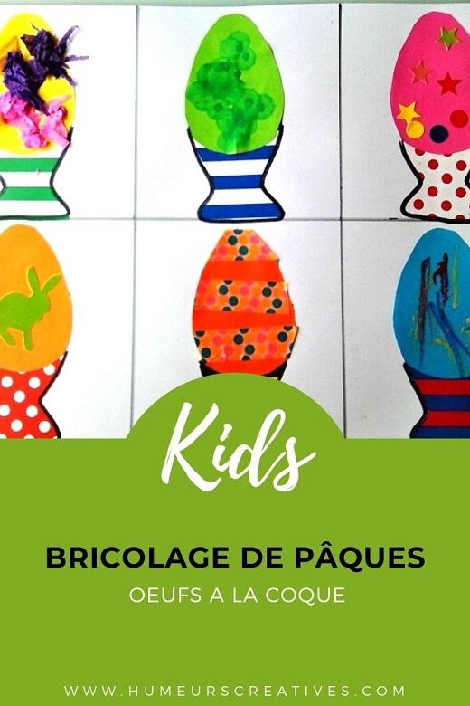 Art visuel, oeufs à la coque à faire avec les enfants pour Pâques