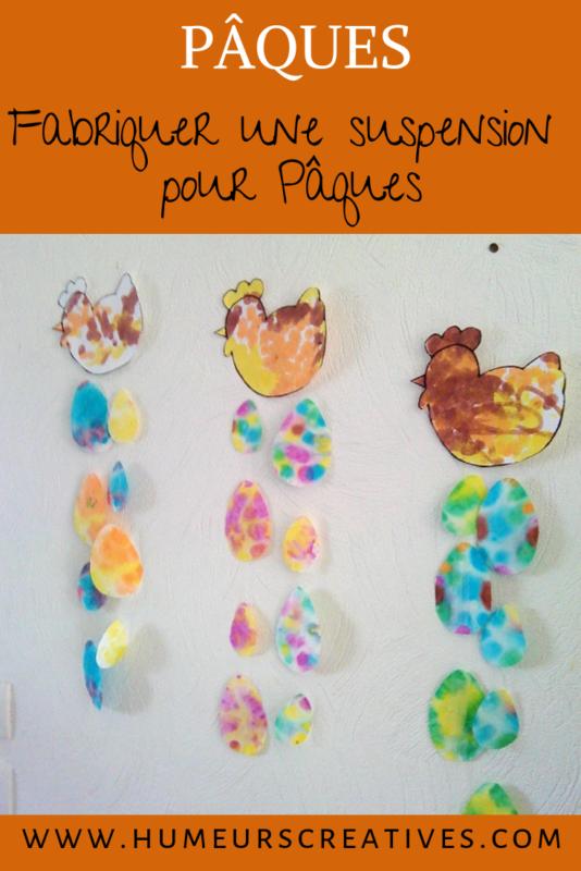 bricolage de paques pour enfants ;: réaliser un mobile de paques