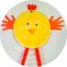 bricolage de paques : réaliser des poussins avec des assiettes en carton