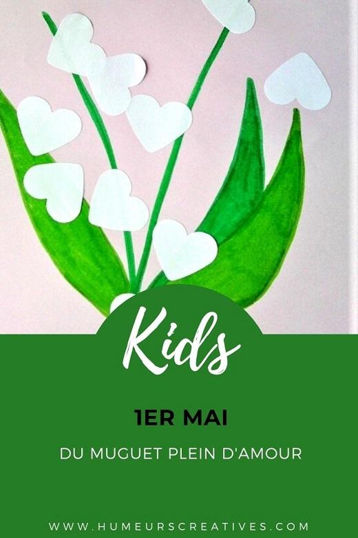 Bricolage pour le 1er mai : brin de muguet en collage pour les enfants