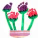 Fleurs empreintes de bout de pieds de bébé