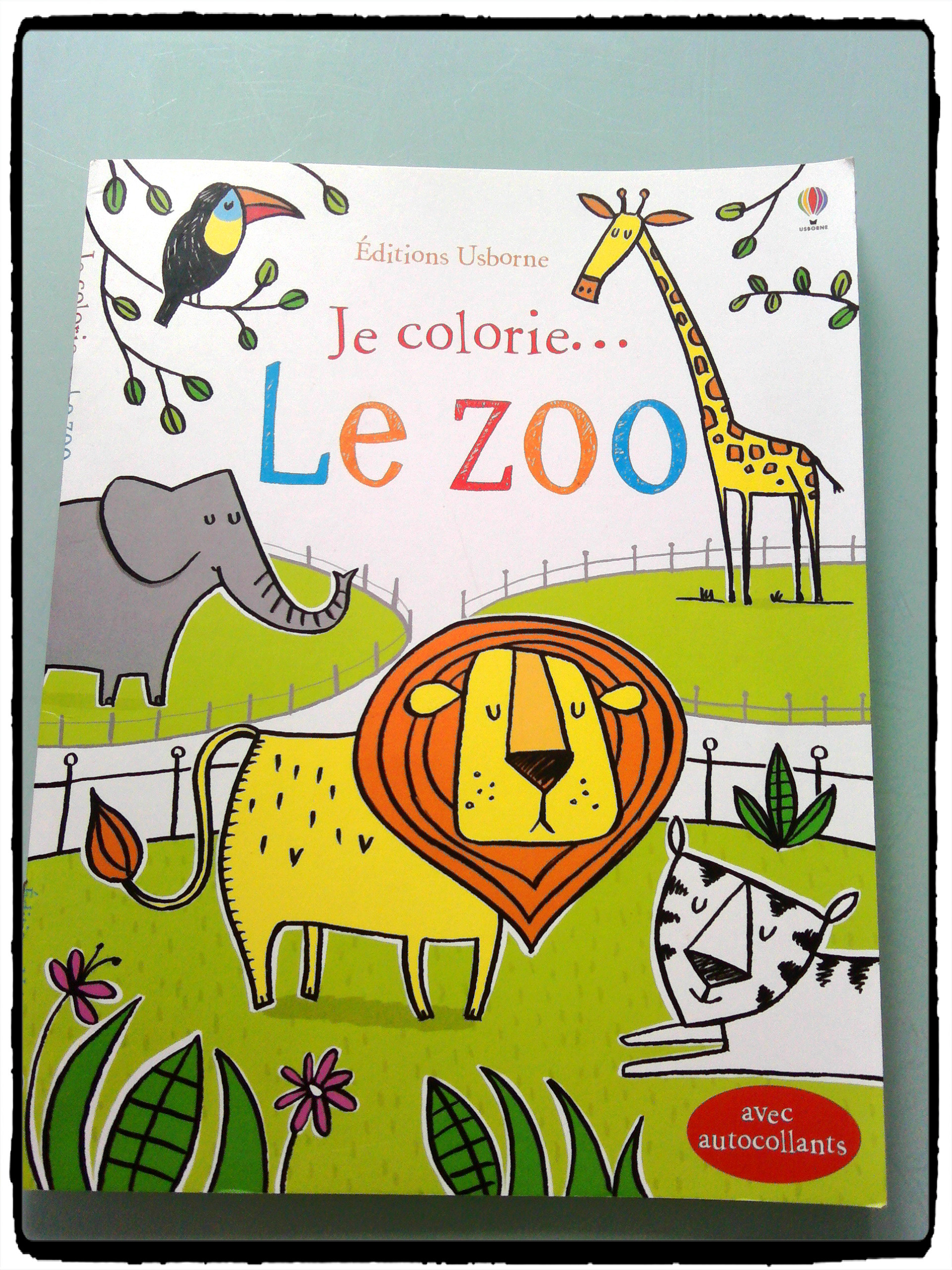 je colorie le zoo ditions usborne mes humeurs cr atives. Black Bedroom Furniture Sets. Home Design Ideas