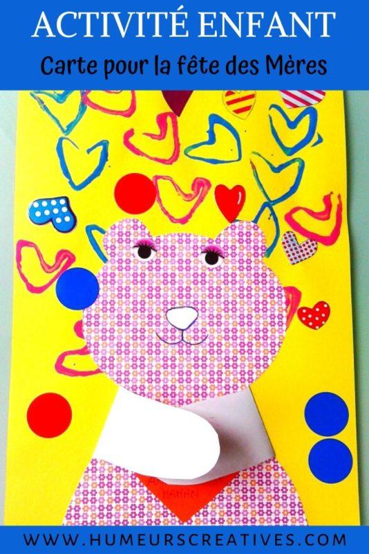 bricolage pour enfant : carte pour la fete des meres