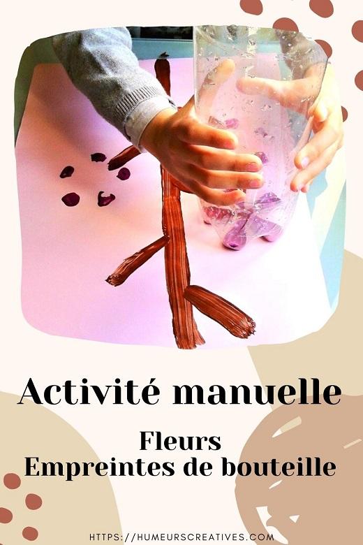Activité manuelle pour enfants : réaliser des fleurs avec des empreintes de bouteille