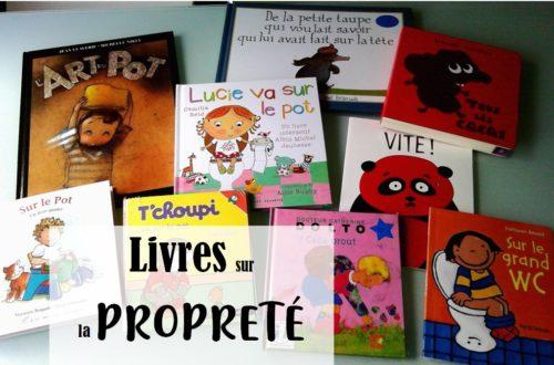 sélection de livres pour l'acquisition de la propreté chez l'enfant