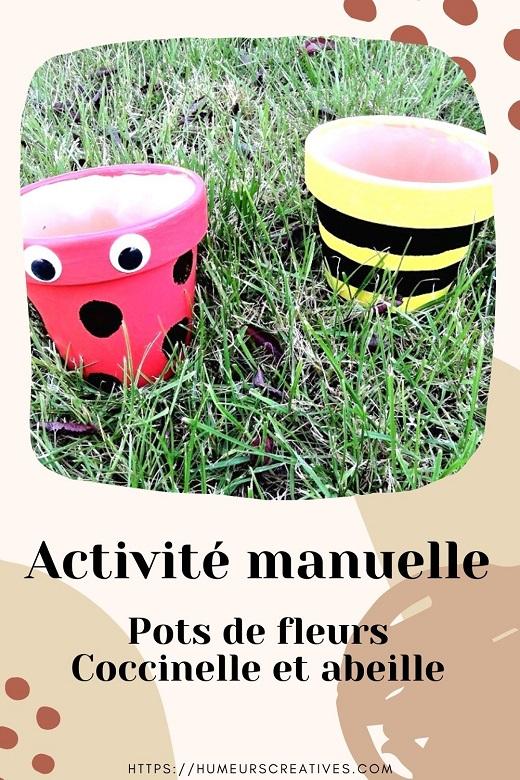 Bricolage de printemps pour enfants : pots de fleurs à customiser en abeille et coccinelle