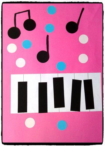 Piano et notes de musique