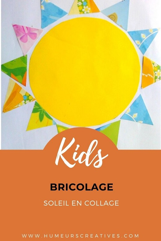 Bricolage pour enfants : un soleil en collage de papier