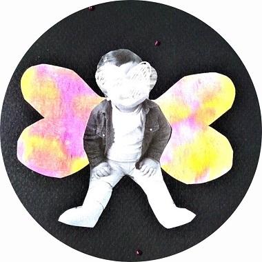 Enfant papillon, bricolage pour enfants