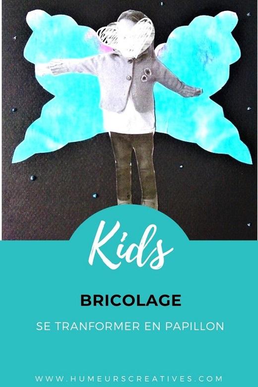 Bricolage pour enfants : transformer l'enfant en joli papillon