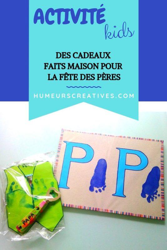 bricolage pour la fête des pères : un cadre PAPA, un décapsuleur à customiser et une carte chemise
