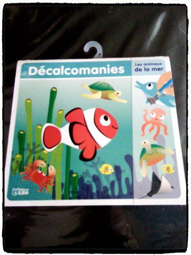 Décalcomanies : les animaux de la mer