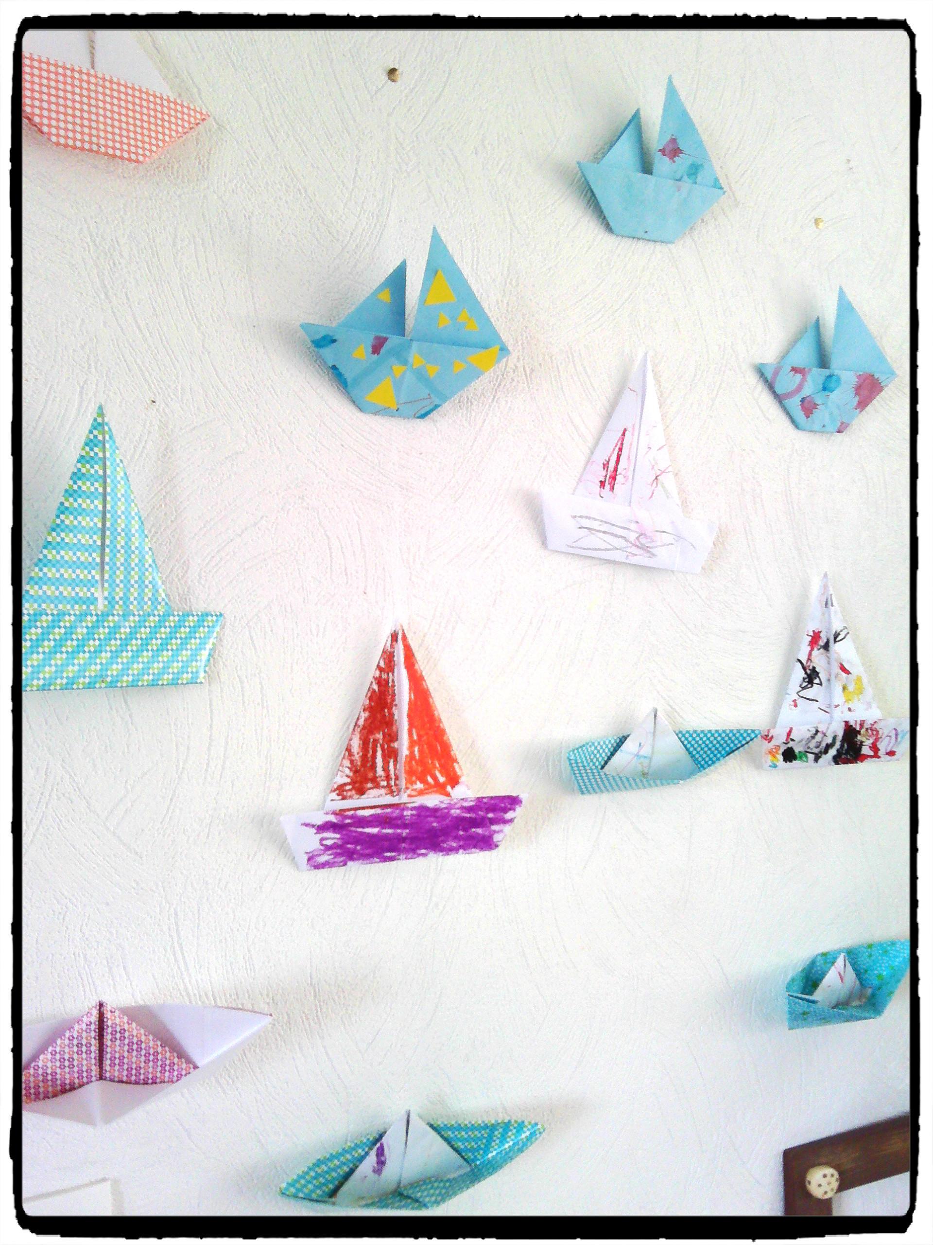 Nos Guirlandes De Bateaux Origami