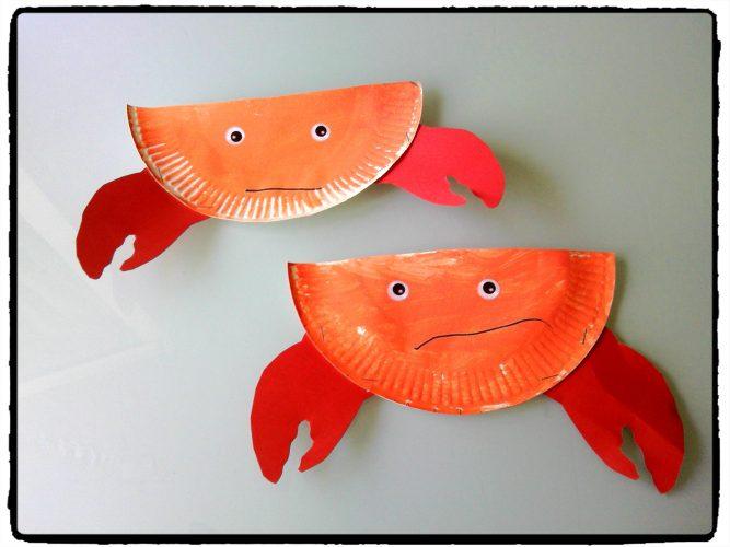 Nos crabes en assiette en carton