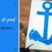 Ancre de bateau avec empreinte de pied de bébé