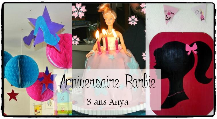 Anniversaire Barbie pour les 3 ans d'Anya