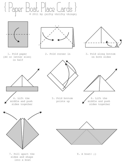 origami facile bateau. Black Bedroom Furniture Sets. Home Design Ideas