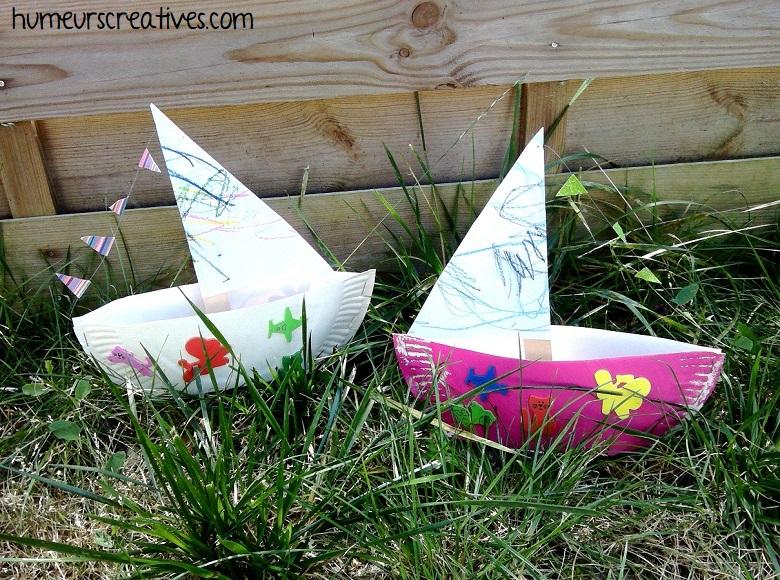 réalisation de nos bateaux avec une assiette en carton