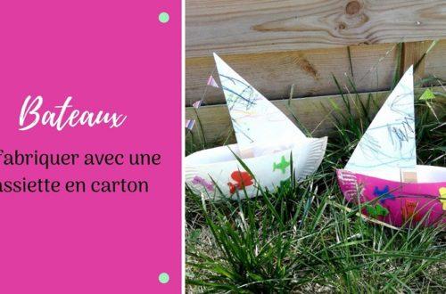 bricolage pour enfants : fabriquer un bateau avec une assiette en carton