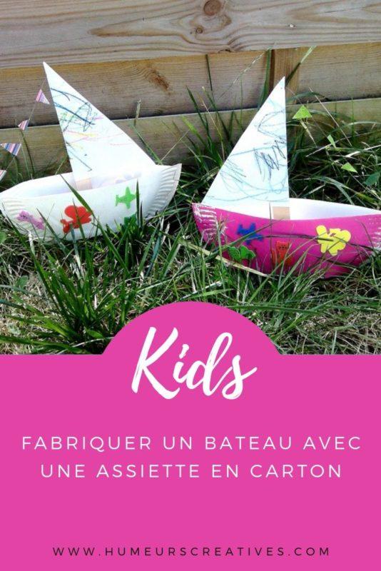 Bricolage pour enfants : des bateaux à fabriquer avec une assiette en carton
