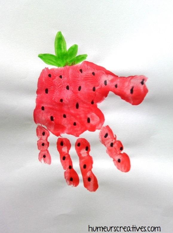 fraise en empreinte de main