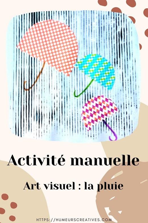 Bricolage pour enfants : art visuel pour réaliser de la pluie