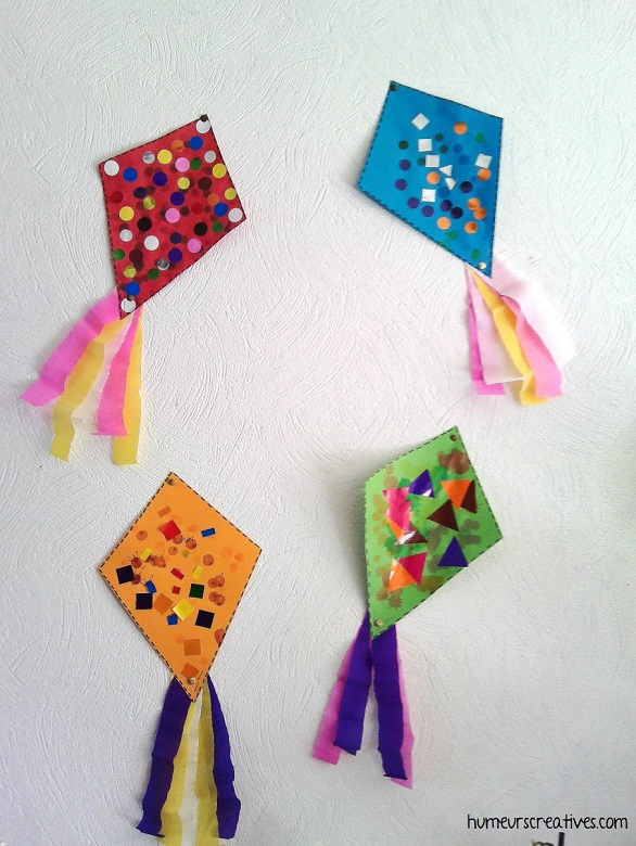 bricolage de cerfs volants par les enfants